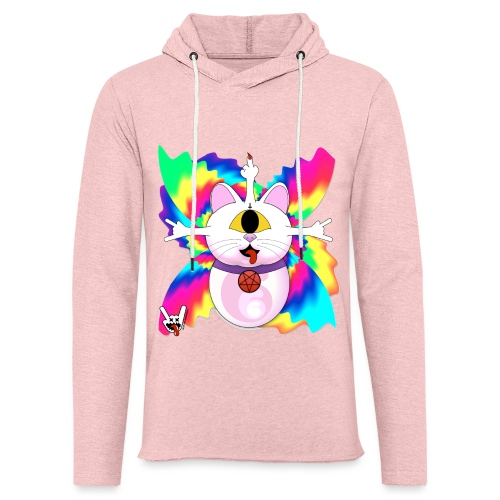 Chat diabolique - Sweat-shirt à capuche léger unisexe