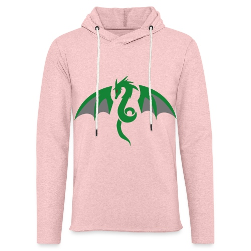 Red eyed green dragon - Lichte hoodie unisex