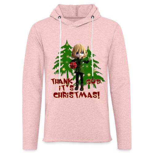 Weihnachtself Thank God it´s Christmas! - Leichtes Kapuzensweatshirt Unisex