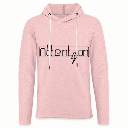 attention - Lichte hoodie unisex