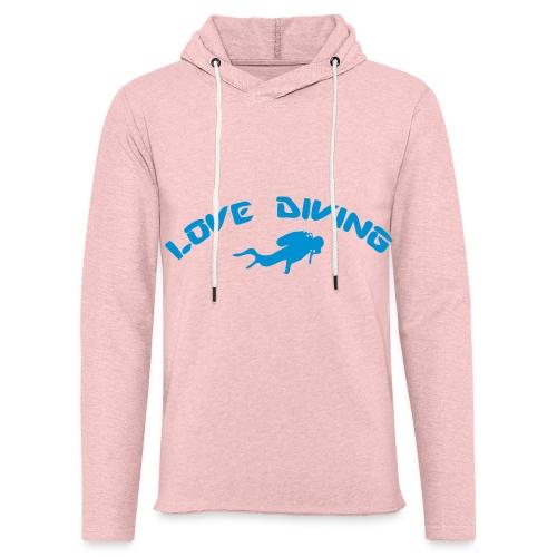 love diving - Leichtes Kapuzensweatshirt Unisex