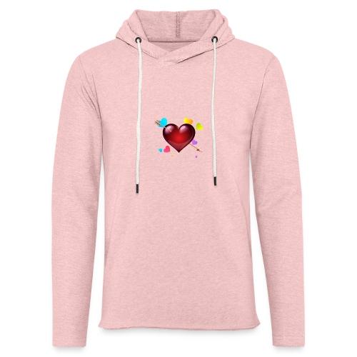 coeurs coloré - Sweat-shirt à capuche léger unisexe