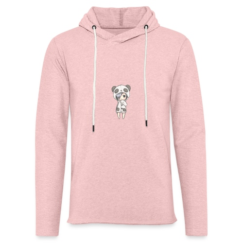 Cute girl panda - Light Unisex Sweatshirt Hoodie