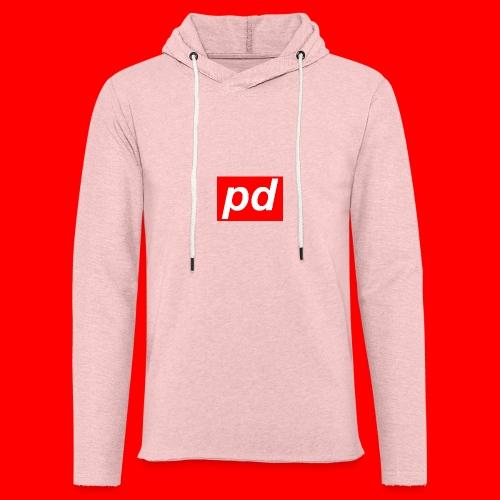 pd Red - Let sweatshirt med hætte, unisex