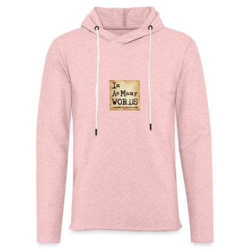 I AM Words LOGO_Brown - Light Unisex Sweatshirt Hoodie