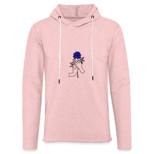 Fiore blu - Felpa con cappuccio leggera unisex