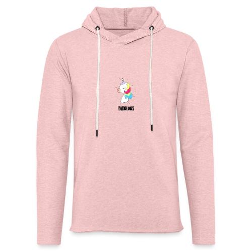 Fabulous Unicorn - Sweat-shirt à capuche léger unisexe