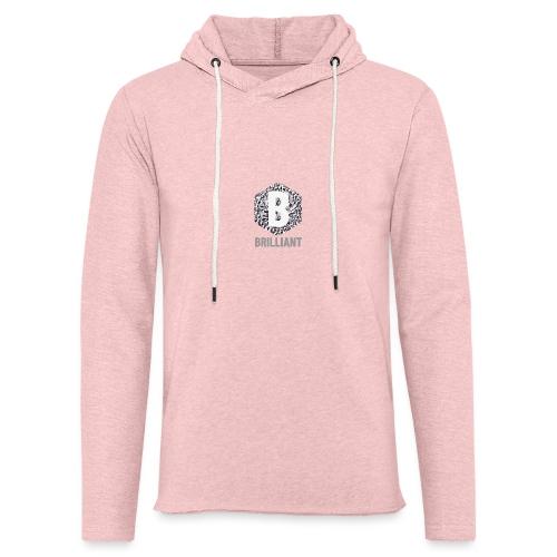 B brilliant grey - Lichte hoodie unisex