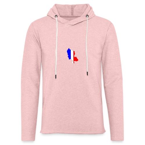 Carte Territoire de Belfort bleu blanc rouge - Sweat-shirt à capuche léger unisexe
