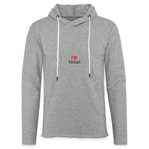 Michael designstyle i love Michael - Light Unisex Sweatshirt Hoodie
