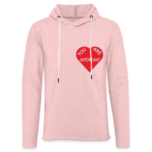 you are important - Let sweatshirt med hætte, unisex