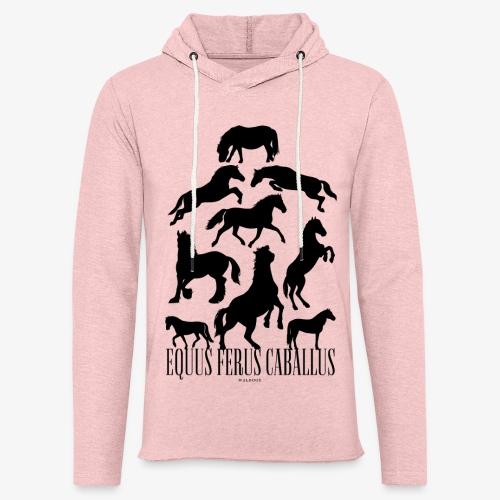 Equus Ferus Caballus Black - Kevyt unisex-huppari