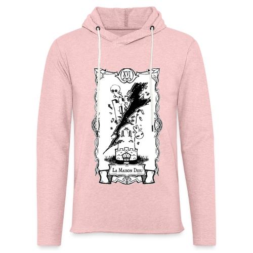 Tarot Card: La Maison Dieu - Let sweatshirt med hætte, unisex