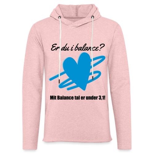 I Balance Design - Let sweatshirt med hætte, unisex