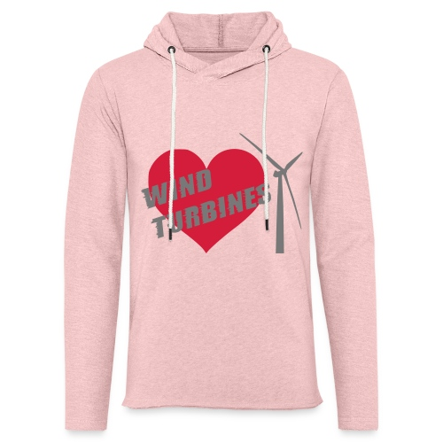 wind turbine grey - Light Unisex Sweatshirt Hoodie