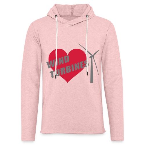 wind turbine grey - Light Unisex Sweatshirt Hoodie