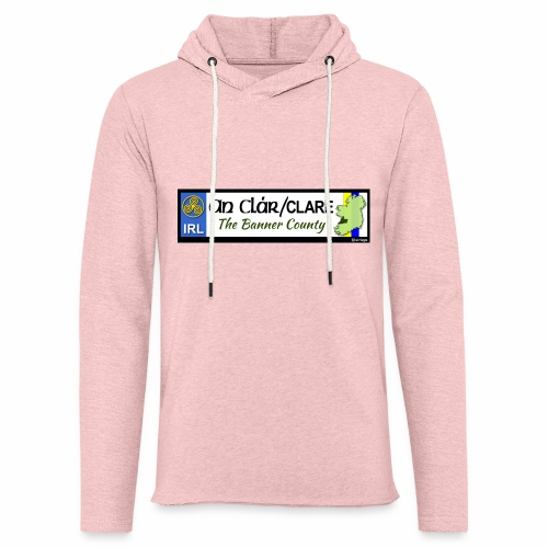 CO. CLARE, IRELAND: licence plate tag style decal - Light Unisex Sweatshirt Hoodie