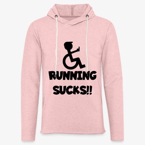 Rolstoel gebruikers haten rennen - Lichte hoodie unisex