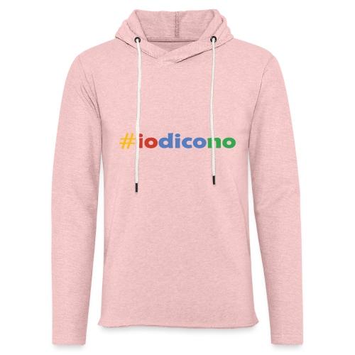 #iodicono - Felpa con cappuccio leggera unisex