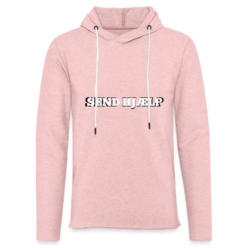 SEND HJÆLP T-shirt - Let sweatshirt med hætte, unisex