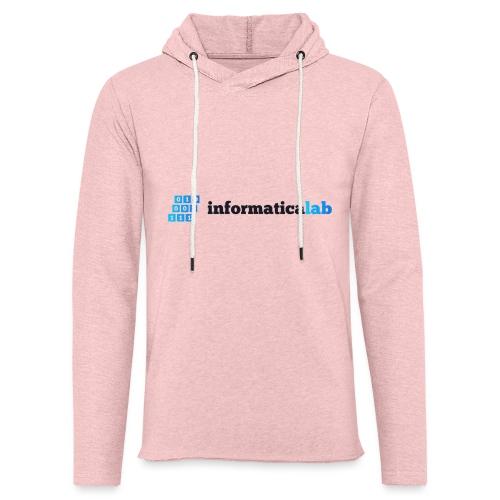 InformaticaLab logo for white background - Felpa con cappuccio leggera unisex