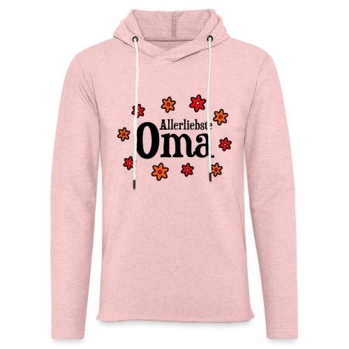 Allerliebste Oma Blumen Geschenk - Leichtes Kapuzensweatshirt Unisex