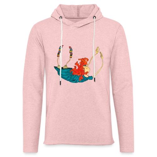 Frit fald - Let sweatshirt med hætte, unisex