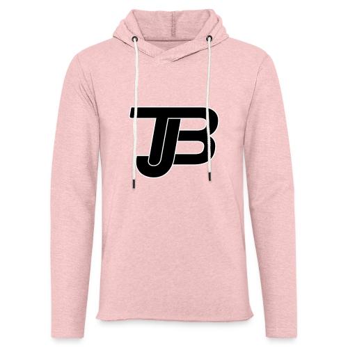 TJB Logo White Black - Leichtes Kapuzensweatshirt Unisex