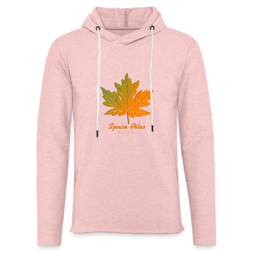 Space Atlas Long Sleeve T-shirt Autumn Leaves - Let sweatshirt med hætte, unisex
