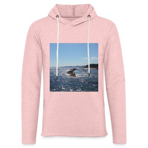 Mer avec roches - Sweat-shirt à capuche léger unisexe