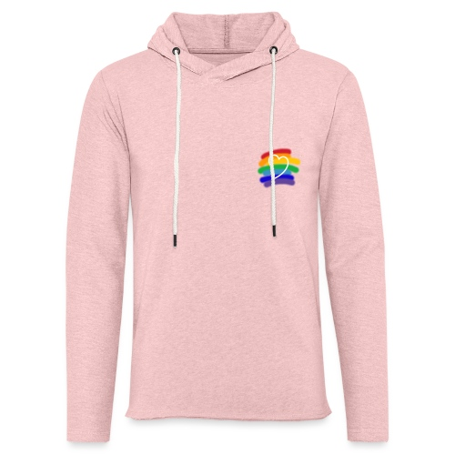 Love color - Sudadera ligera unisex con capucha