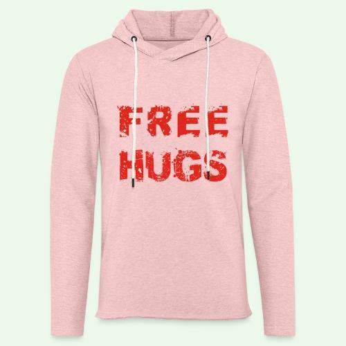 Free Hugs // Flirten // T-Shirt - Leichtes Kapuzensweatshirt Unisex