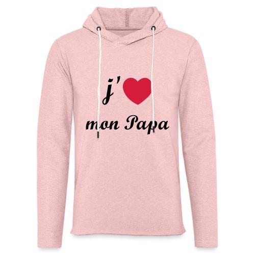 J'aime mon papa - 01 Vecto - Sweat-shirt à capuche léger unisexe
