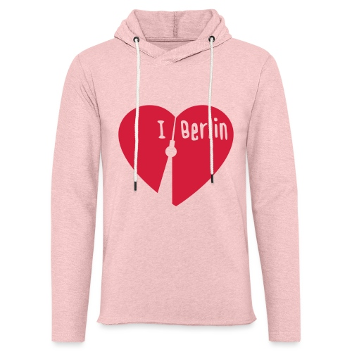 I love Berlin (1-farbig) - Leichtes Kapuzensweatshirt Unisex