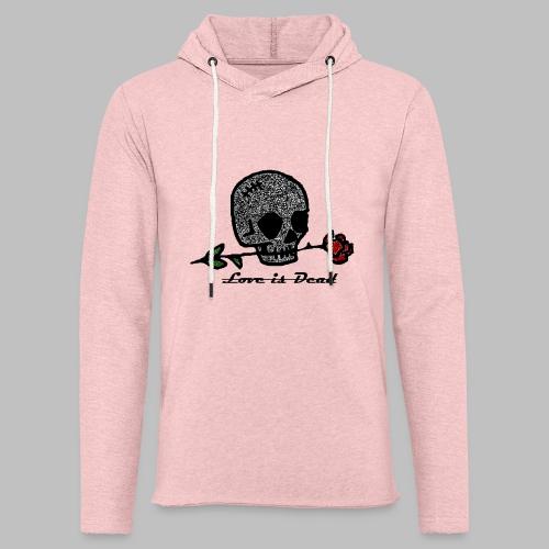 Love Is Dead Custom Skull Design - Lichte hoodie unisex