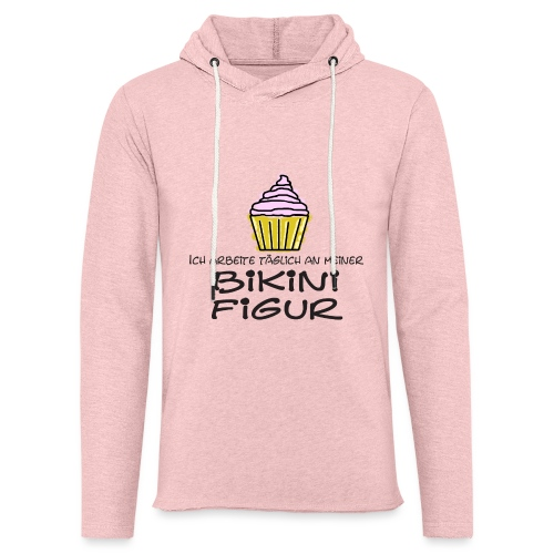 Bikinifigur03 - Leichtes Kapuzensweatshirt Unisex