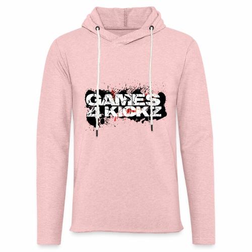 Games4Kickz Logo Splattered Background - Light Unisex Sweatshirt Hoodie