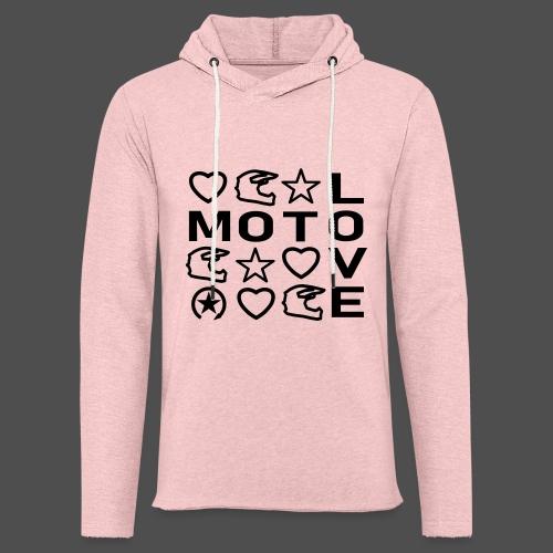 MOTO LOVE - Lekka bluza z kapturem