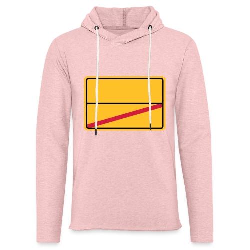 Ortsschild Ende - blanko - Leichtes Kapuzensweatshirt Unisex