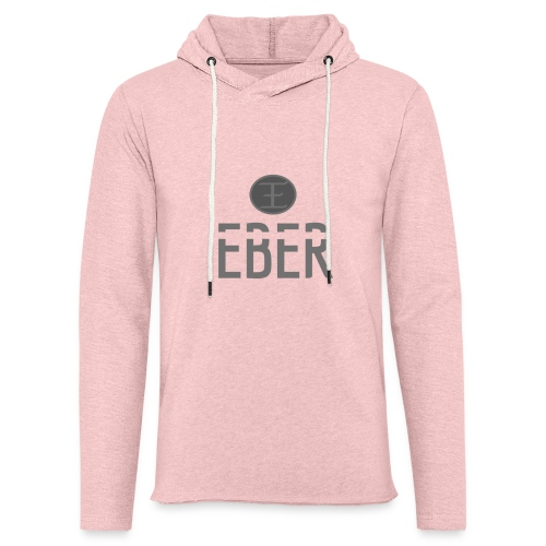 EBER: T-Shirt - Grey - Lätt luvtröja unisex