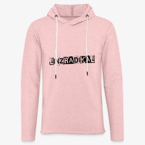 Linzradikal schwarz - Leichtes Kapuzensweatshirt Unisex