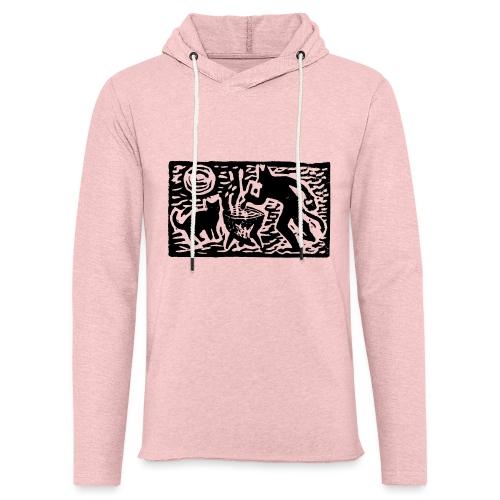 Teufel mit Katze - Leichtes Kapuzensweatshirt Unisex