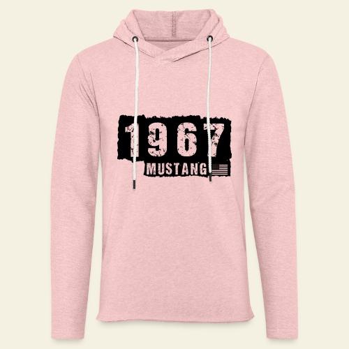1967 - Let sweatshirt med hætte, unisex