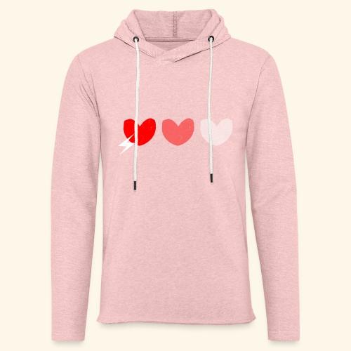 3hrts - Let sweatshirt med hætte, unisex