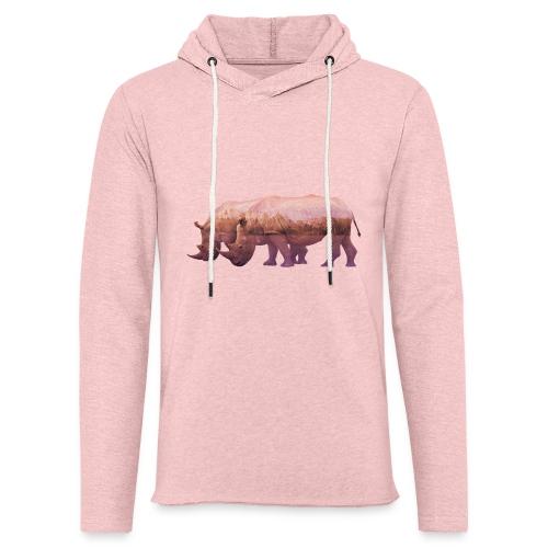 Nashorn Alpen - Leichtes Kapuzensweatshirt Unisex