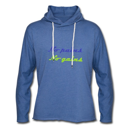 No pains no gains Saying with 3D effect - Light Unisex Sweatshirt Hoodie