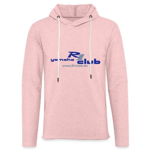 R1club Logo blau - Leichtes Kapuzensweatshirt Unisex