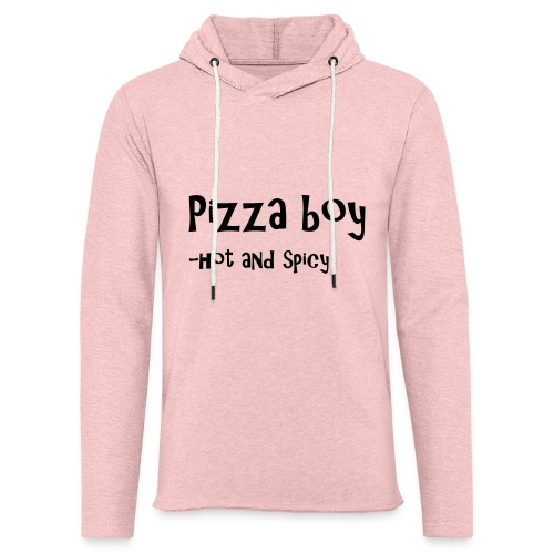 Pizza boy - Lett unisex hette-sweatshirt