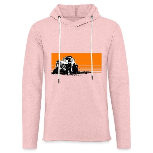 Sunset tractor orange - Felpa con cappuccio leggera unisex