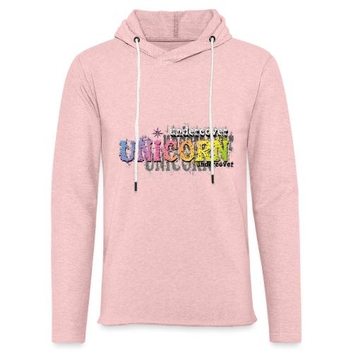 Undercover Unicorn - Sweat-shirt à capuche léger unisexe